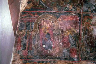 A fresco in Evangelismos Church in Evangelismos