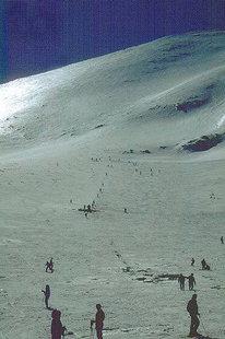 Wintersport im Skizentrum der Nida-Hochebene