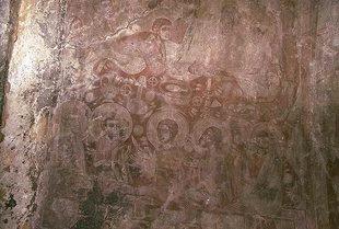 Fresko aus dem 14. Jhdt. in der Agios Antonios-Kirche, Avdou