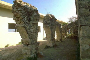 The monastery ruins surrounding Metamorphosis of Sotiras Church, Margarites
