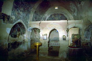 The interior of Metamorphosis of Sotiras Church, Margarites