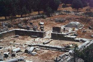 The temple of Apollo, Gortyn