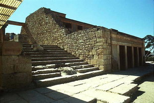 Staircase leading from the Piano Nobile to the Central Court area, Knossos