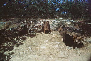 Graves in the Minoan cemetery of Armeni