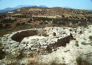 The Minoan tomb circa 1700 B.C. in Kamilari
