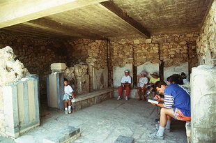 The Inner Chamber and its restored benches, Agia Triada