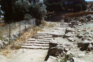 The Minoan paved road (Rampa al Mare), Agia Triada