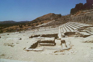 The Theatre Area, the Shrine Rooms, and the retaining wall of the Upper Court, Festos