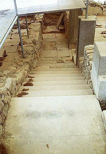 The stairs that lead to the Peristyle Hall, Festos