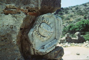 Some of the ancient remainders used to construct Agios Kirikos, Lissos
