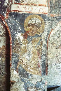 A fresco in the Panagia Church in Lissos