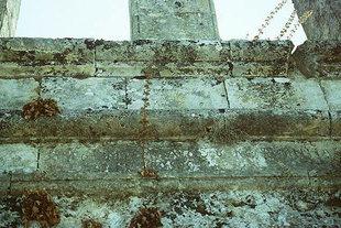 Inschrift in der Kirche Agios Ioannis und Agia Triada in Pantanassa