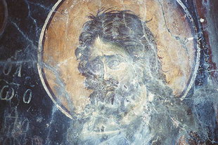 A fresco in Agios Onoufrios Church, Thronos