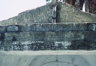 Inschrift im Assomaton-Kloster