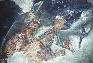 A fresco in the Panagia Church in Lambiotes