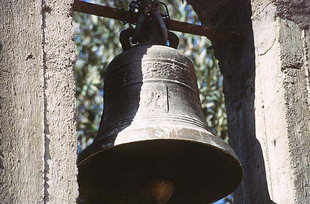 The bell of Agios Theodoros Church in Amari