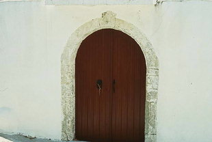 A church portal in Amari
