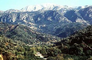 Le village de Meskla dans la Vallée du Keritis