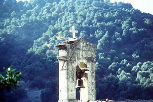 Der Glockenturm der Panagia-Kirche, Meskla