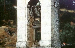 Der Glockenturm der Sotiras Christos-Kirche in Meskla