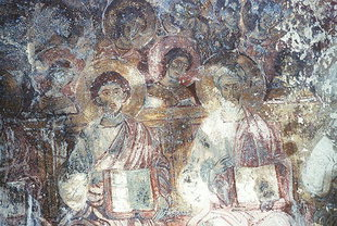 A fresco in Sotiras Christos Church, Meskla