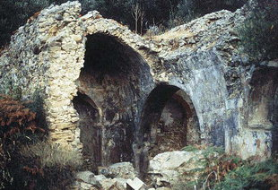 The ruins of the Byzantine church of Agios Georgios, Pervolia