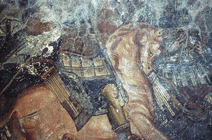 Guterhaltenes Fresko in der Panagia-Kirche, Sklavopoula
