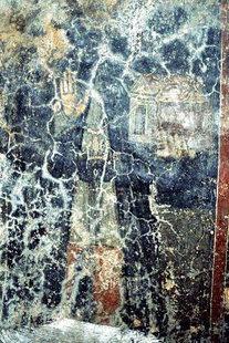 Ο δωρητής της εκκλησίας της Παναγίας με το πρότυπο στα χέρια του, Σκλαβοπούλα