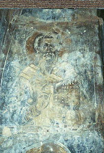 A fresco in the Panagia Church, Sklavopoula