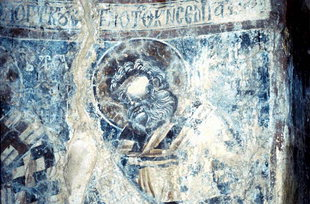 Μια τοιχογραφία στην εκκλησία της Παναγίας στη Σκλαβοπούλα