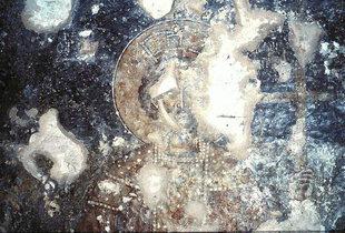 Μια τοιχογραφία στη εκκλησία των Αγίων Πατέρων στα Άνω Φλώρια