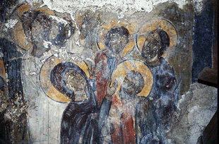 Fresko in der Agios Georgios-Kirche in Kato Floria