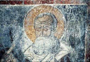 A fresco in Agia Anna Church, Anisaraki