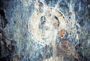A fresco in Agia Paraskevi Church, Hondros
