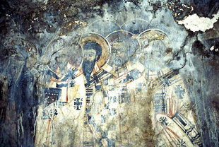 A fresco in Agios Georgios Church, Plemeniana
