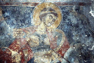 Agios Georgios fresco in Agios Georgios Church, Plemeniana