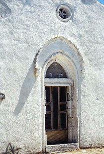 Η εξώθυρα της Βυζαντινής εκκλησίας του Μιχαήλ Αρχάγγελου στο Κακοδίκι