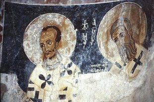 A fresco in Sotiras Christos Church, Sklavopoula