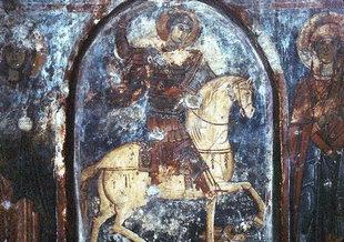 Μια τοιχογραφία στην εκκλησία του Αγίου Γεωργίου στους Ανύδρους