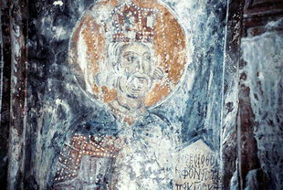 A fresco in the church of the Panagia, Skafidia