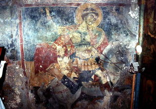 A fresco in the church of Agios Georgios, Plemeniana