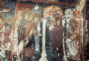 A fresco in the church of the Panagia, Kadros