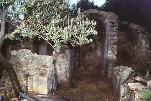 The ruins of Agios Georgios Church in Pervolia