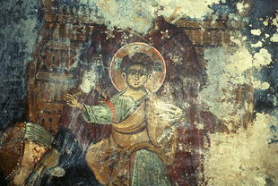 A fresco in the church of the Panagia,  Platanias