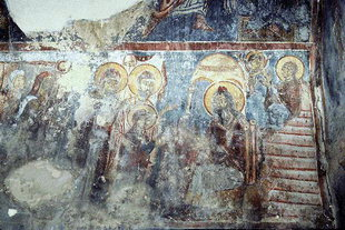 A fresco in the church of Agios Georgios, Vathiako