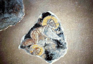 A fresco in Agios Ioannis Church, Kissos