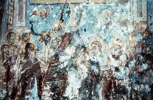 Une fresque dans l'église de Sotiras Christos, Kissos
