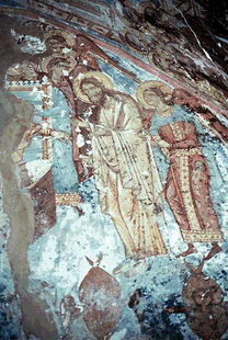 A fresco in Sotiras Christos Church, Kissos