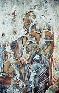 A fresco in the church of the Panagia, Drimiskos