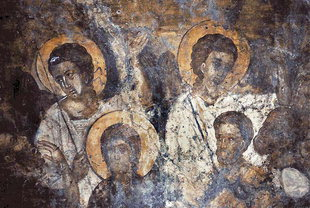 A fresco in the church of the Panagia, Agia Paraskevi
